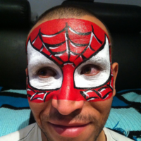 maquillage garçon spiderman - animation maquillage anniversaire enfants